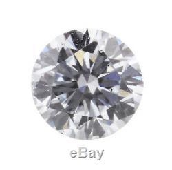 0.08 Carat Fancy Light Blue Loose Diamond Natural Color Round Shape Certified