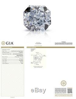 0.10 Carat Fancy Blue Diamond GIA Certified Natural Color Radiant