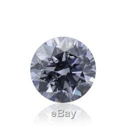 0.13 Carat Fancy Blue Gray Loose Diamond Natural Color Round Cut GIA Certified