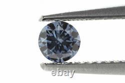 0.26 Carat Fancy Deep Blue Diamond VS1 GIA Certified Natural Color Round Shape