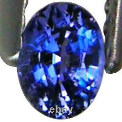 0.35 Ct TGL Certified Rare Natural Benitoite Violetish Blue Color Oval Cut