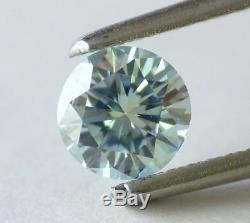 0.55 ct Loose Natural Diamond Fancy Intense Blue Round Cut Aqua Tone Certified