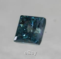 0.56 Carat Fancy Vivid Blue Princess Natural Diamond 4.02 CertifIed VIDEO #75