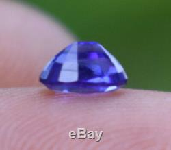 0.58 Ct Certified Loose Natural Ceylon Cornflower Blue Sapphire Flawless Video