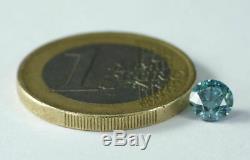 0.73 CT Natural Diamond Fancy vivid Blue VS1 Round Cut RARE COLOR Certified