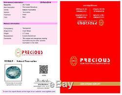 0.73 ct PGTL Certified Oval Cut (6 x 5 mm) Copper Bearing Paraiba Tourmaline