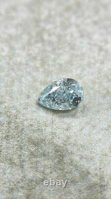 0.75 CT Loose Natural Diamond Fancy Blue Pear Cut GIA Certified One of A kind