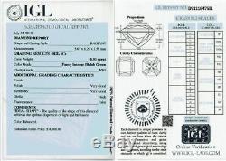 0.91 ct Loose Natural Diamond Fancy Intense Blue Green VS1 Radiant Cut Certified