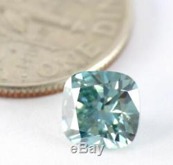 1.00 CT Loose Natural Diamond Fancy Vivid Blue VS1 Cushion Cut IGL Certified