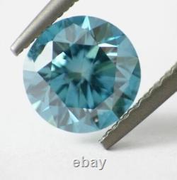 1.00 CT Loose Natural Diamond Fancy Vivid Blue VS1 Round Brilliant Cut Certified