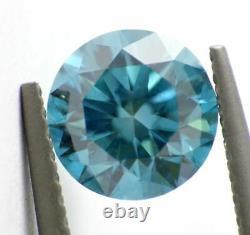 1.00 carat Fancy Vivid Blue Loose Natural Diamond Round Brilliant Cut Certified