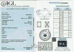 1.00 carat Fancy vivid Blue Loose Natural Diamond Radiant Cut VS1 IGL Certified