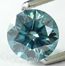 1.01 CT Loose Natural Diamond Fancy Vivid Blue VS1 Round Brilliant IGI Certified