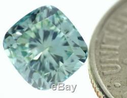 1.01 carat Fancy Vivid Blue Loose Natural Diamond VS1 Cushion Cut Certified RARE