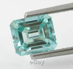 1.01 carat Fancy Vivid Blue VS1 Loose Natural Diamond Emerald Cut Certified RARE