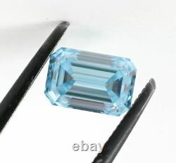 1.03 CT Loose Natural Diamond Fancy Intense Blue VVS1 Emerald Cut GIA Certified