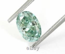 1.04 carat Fancy Intense Blue VS1 Loose Natural Diamond Oval shape Certified