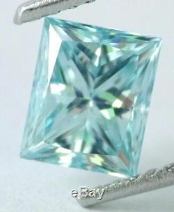 1.06 carat Fancy Intense Blue Loose Natural Diamond VS1 Princess Cut Certified
