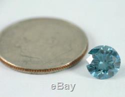 1.12 CT Loose Natural Diamond Fancy Vivid Blue VS1 Round Brilliant IGI Certified