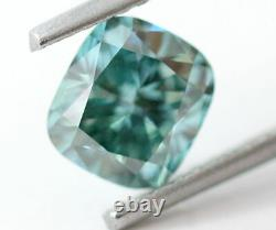 1.12 CT Loose Natural Diamond Fancy vivid Blue Cushion Shape VS1 IGL Certified