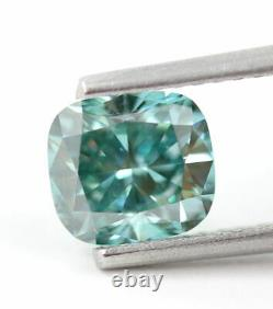 1.12 carat Fancy vivid Blue Loose Natural Diamond Cushion Shape VS1 Certified