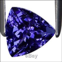 1.14 Ct IGI Certified A+ Natural D Block Tanzanite Blue Violet Color TrillionCut