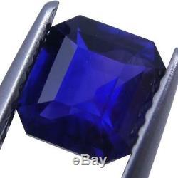 1.14 ct Blue Sapphire Octagonal GIA Certified Unheated, Sri Lanka