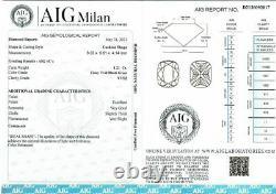 1.21 CT Loose Natural Diamond Fancy Vivid Blue Green VVS2 Cushion cut Certified