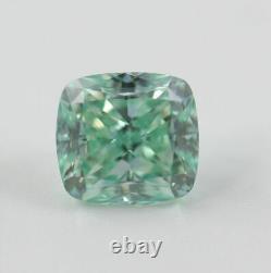 1.21 carat Fancy Vivid Blue Green VVS2 Loose Natural Diamond Cushion Certified