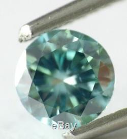 1.21 carat Fancy Vivid Blue VS2 Loose Natural Diamond Round Cut IGI Certified