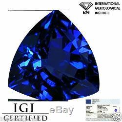 1.24 Ct IGI Certified AA+ Natural Tanzanite Gemstone Blue Violet Trillion Cut