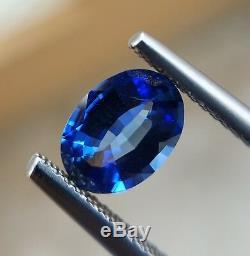 1.28 Ct Natural Unheated Cornflower Blue Sapphire Oval VVS Certified