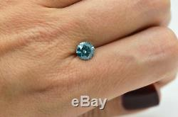 1.29 Carat Fancy Blue Color Natural Diamond Enhanced Round Shape Loose Certified