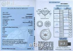 1.32 carat Fancy Vivid Blue VS1 Loose Natural Diamond Round Cut IGI Certified