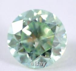 1.38 CT Loose Natural Diamond Fancy Intense Blue Green Round Brilliant Certified
