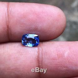1.38 Cts Natural Unheated Blue Sapphire Certified Nice Ceylon Sapphire