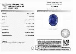 1.47 ct Oval Blue Sapphire IGI Certified Unheated