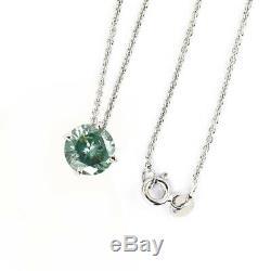 1.50 Ct Certified Blue Diamond Pendant. Certified. 100% genuine. Earth mined