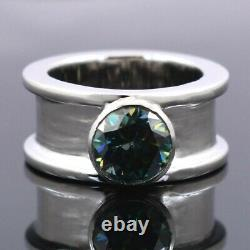 1.50 Ct Certified Blue Diamond Solitaire Band Ring, Stunning Collection