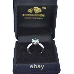 1.50 Ct Certified Natural Earth mined Blue Diamond Ring With White Gold