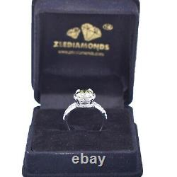 1.50Ct Certified Natural Earth Mined Gray Diamond Engagement Ring With Accents