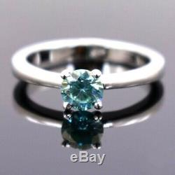 1.60 ct Certified, Blue Diamond Solitaire Engagement Ring, Excellent Cut & Luster