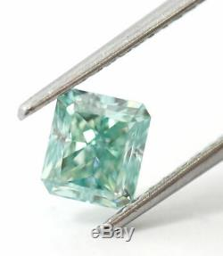 1.61 CT Loose Natural Diamond Fancy Blue Green VVS2 Radiant GIA Certified RARE