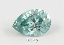 1.62 carat Loose Natural Diamond Fancy Intense Blue Pear Cut GIA Certified