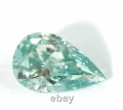 1.63 CT Loose Natural Diamond Fancy Vivid Blue Green VVS2 Pear Cut GIA Certified