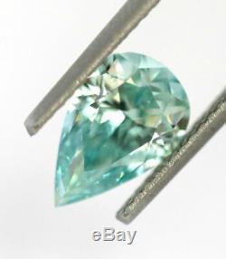 1.63 CT Loose Natural Diamond Fancy Vivid Blue Green VVS2 Pear Cut GIA Certified