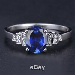1.65Ct 14KT Solid White Gold Natural Blue Tanzanite EGL Certified Diamond Ring