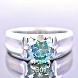 1.70 ct Certified AAA Blue Diamond Solitaire Ring, Certified Diamond