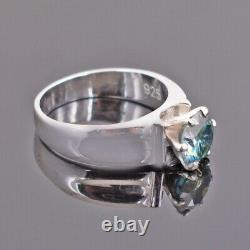 1.70Ct Certified Natural Earth Mined Round Brilliant Cut Blue Diamond Ring