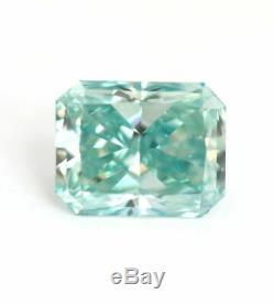 1.71 carat Fancy Blue Green Loose Natural Diamond VVS2 Radiant Cut GIA Certified